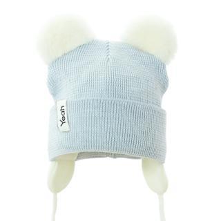 PUPILL Čiapka zimná Gwidon blue cream veľ. 38-40