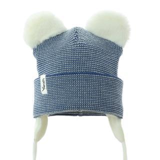 PUPILL Čiapka zimná Gwidon jeans cream veľ. 38-40