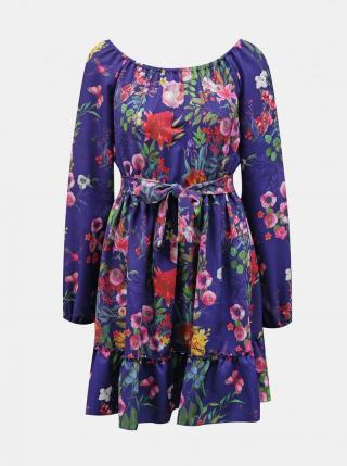 Purple Floral Numoco Dress dámské fialová M