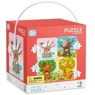 Puzzle 4 v 1 Ročné obdobia