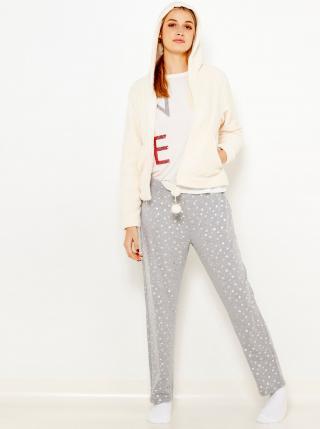 Pyžamká pre ženy CAMAIEU - sivá, krémová dámské M