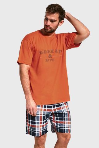 Pyžamo Wake up pánské oranžová L