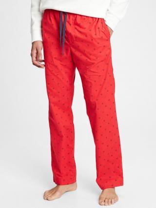Pyžamové nohavice GAP Červená pánské XL