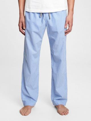 Pyžamové nohavice pajama pants in poplin Modrá pánské XL
