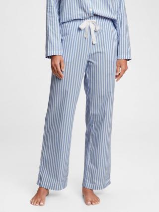 Pyžamové nohavice poplin pajama pants Modrá dámské L