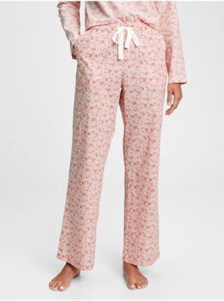 Pyžamové nohavice poplin pajama pants Ružová dámské XS