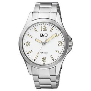 Q & Q Analogové hodinky QB12J204 pánské strieborná