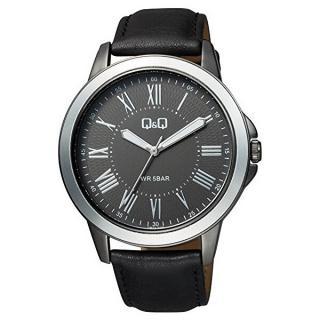 Q & Q Analogové hodinky QB22J508 pánské čierna