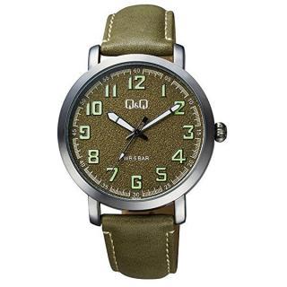 Q & Q Analogové hodinky QB28J505 pánské zelená
