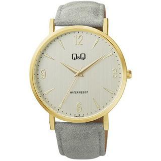Q & Q Analogové hodinky QB40J103 pánské sivá
