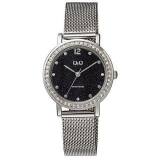 Q & Q Analogové hodinky QB45J202 dámské strieborná