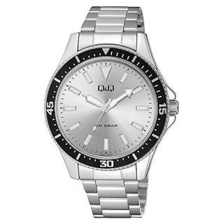 Q & Q Analogové hodinky QB64J201 pánské strieborná