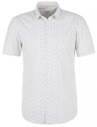 Q/S designed by Pánska košeľa 47.004.22.4710 .01A0 White AOP XXL