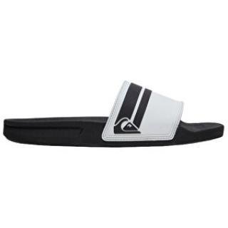 Quiksilver Pánske šľapky Rivi Slide White / Black / White AQYL100867 -XWKW 45 pánské