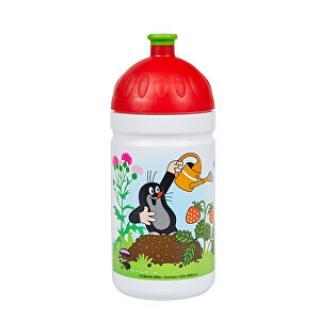 R&B Zdravá fľaša 0,5 l Krtek a jahody červená
