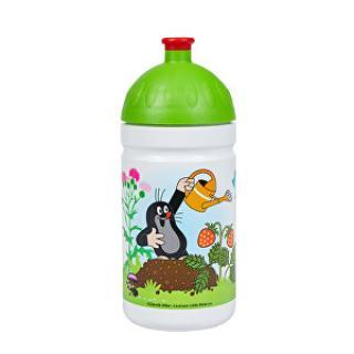 R&B Zdravá fľaša 0,5 l Krtek a jahody zelená