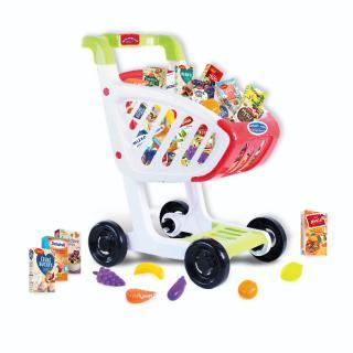 Rappa Detský nákupný vozík s českým tovarom, 45 x 36 x 24 cm