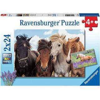 Ravensburger 051489 Fotky koní 2× 24 dielikov