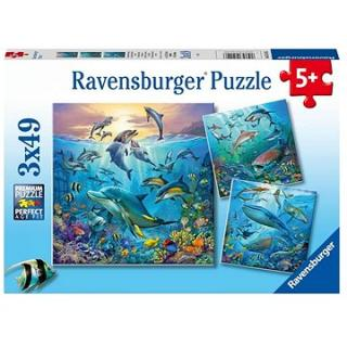 Ravensburger 051496 Pod vodou 3× 49 dielikov