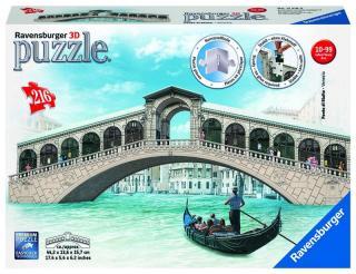 RAVENSBURGER Rialto most Benátky 3D, 216 dielikov mix farieb