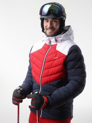 Red-blue mens ski jacket LOAP Olto pánské Tmavě modrá S