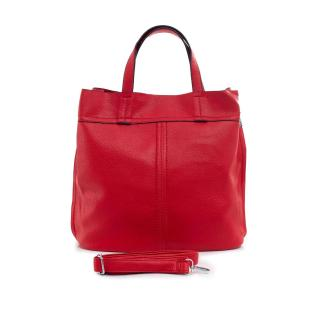 Red faux leather bag dámské Other One size