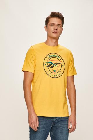 Reebok Classic - Pánske tričko pánské žltá XL