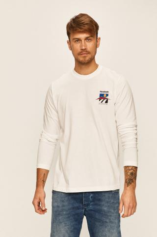 Reebok Classic - Tričko s dlhým rúkavom pánské biela S