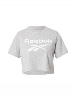 Reebok Classics Tričko  sivá melírovaná / biela dámské L