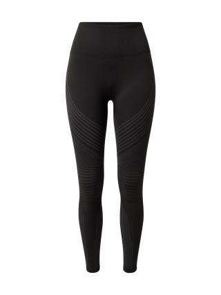 REEBOK Športové nohavice  čierna / sivá dámské XS