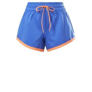 REEBOK Športové nohavice  modrá / oranžová dámské XS