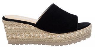 Refresh Dámske šľapky Black Microfiber Ladies Sandals 72256 Black 39 dámské