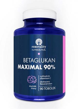 Renovality Betaglukan 90% MAXIMAL s Vitamínom C 90 kapsúl