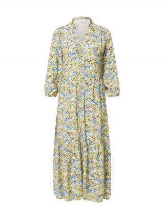 Rich & Royal Košeľové šaty  žltá / svetlomodrá / pastelovo modrá / biela / okrová dámské 34