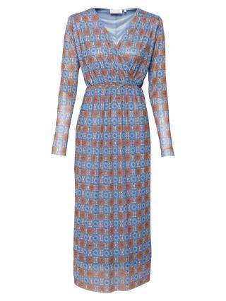 Rich & Royal Šaty  svetlomodrá / modrá / hnedá dámské 34