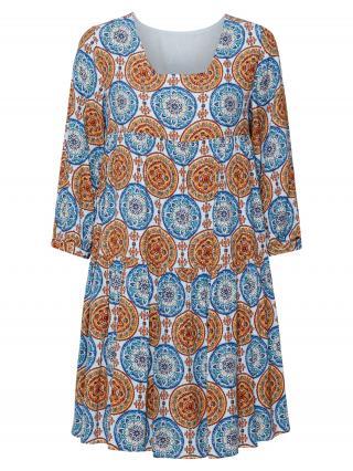 Rich & Royal Šaty  svetlomodrá / modrá / hnedá dámské 36