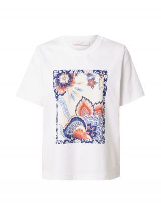 Rich & Royal Tričko  biela / svetlomodrá / námornícka modrá / krémová / ohnivo červená dámské M