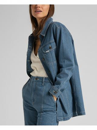 Rifľové bundy pre ženy Lee - modrá dámské L
