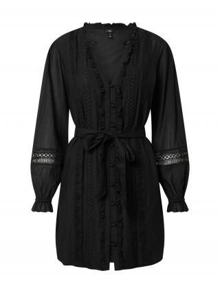 River Island Košeľové šaty VICTORIANA  čierna dámské 36