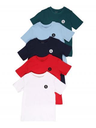 River Island Tričko  biela / červená / modrá / smaragdová pánské 134-140