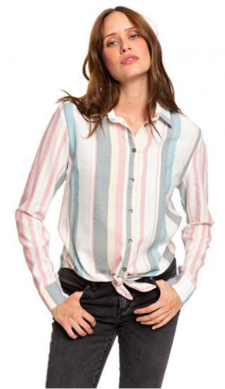 Roxy Dámska košeľa Suburb Vibes Stripe Snow White Retro Vertical ERJWT03343-WBK3 S