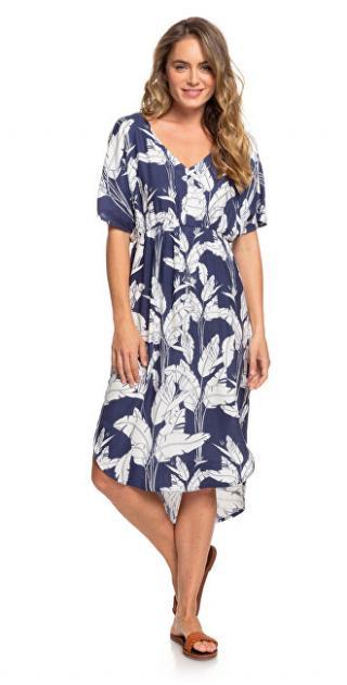 Roxy Dámske šaty Flamingo S hades Mood Indigo Flying Flow er s ERJWD03428-BSP7 XS dámské