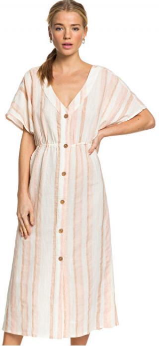 Roxy Dámske šaty Joyful Noise Ivory Cream Nam Nam Stripe s ERJWD03419-TFM3 L dámské