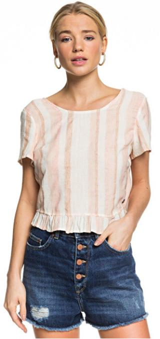 Roxy Dámske tričko Ghost Away Stripe Ivory Cream Nam Nam Stripe s ERJWT03400-TFM3 M