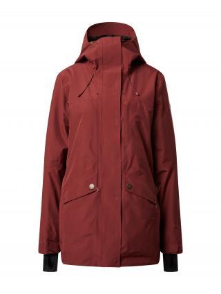 ROXY Outdoorová bunda GLADE  vínovo červená dámské L