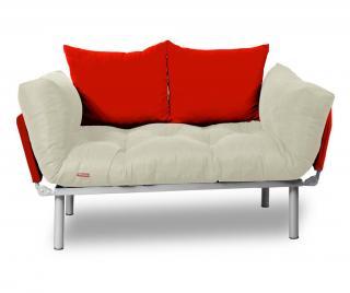 Rozkladacia pohovka Relax Cream Red Krémová