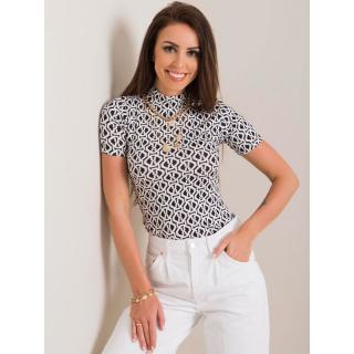 RUE PARIS Black and white women´s blouse dámské Neurčeno L