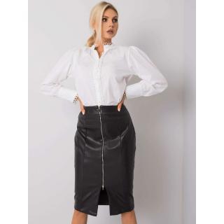 RUE PARIS Black skirt made of eco-leather dámské Neurčeno S