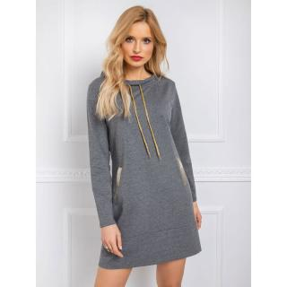 RUE PARIS Dark gray sweatshirt dress dámské Neurčeno L