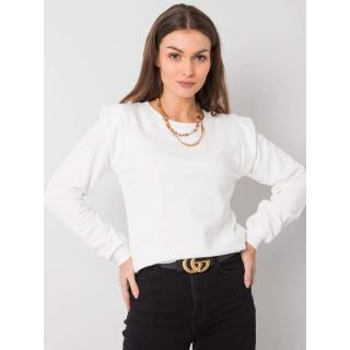 RUE PARIS Ecru cotton sweatshirt dámské Neurčeno S